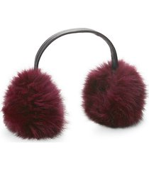 dyed fox fur earmuffs