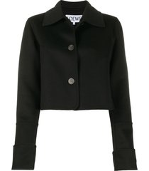 loewe extended-cuff point-collar jacket - black