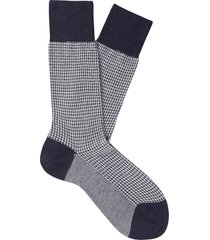 men's suitsupply houndstooth socks, size medium - blue