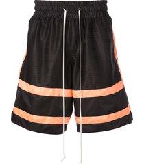 daniel patrick loose fit track shorts - black