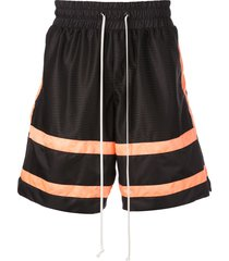 daniel patrick loose fit track shorts - black