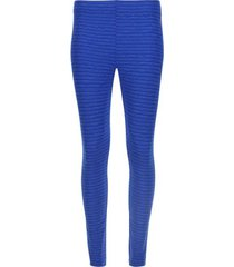 legging básico azul texturizado color azul, talla s