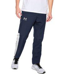pantalón azul-blanco under armour ua vital woven pants