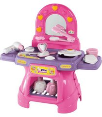 penteadeira calesita mini glamour cor rosa - rosa - menina - dafiti