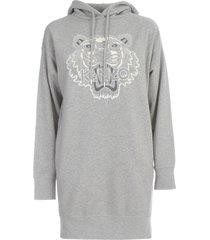 hoodie dress flocking tiger