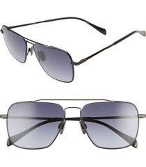 men's rag & bone 57mm aviator sunglasses -