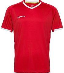 progress 2.0 solid jersey m t-shirts short-sleeved röd craft