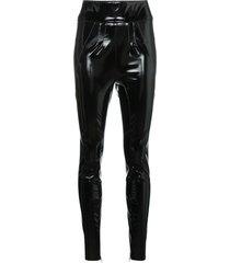 1017 alyx 9sm vinyl high-waist skinny trousers - black