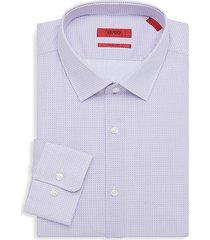mabel sharp-fit print dress shirt