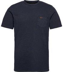 workwear pocket tee t-shirts short-sleeved blå superdry