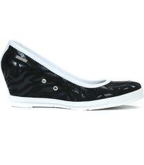 skórzane czółenka zapato 024 czarny zebra