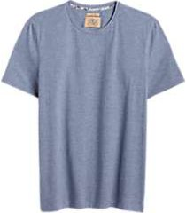 joe joseph abboud blue stripe crew neck slim fit t-shirt