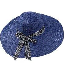 chapéu artestore aba larga casual e praia com faixa animal print feminino