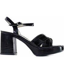 sandalia negra briganti mujer lasam