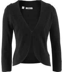 bolero in maglia a maniche lunghe (nero) - bpc bonprix collection