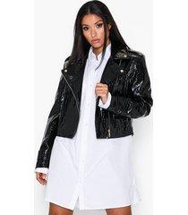 ivyrevel oversized pu croco biker jacket skinnjackor