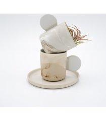 filiżanka do espresso z podstawkiem/ karmelove