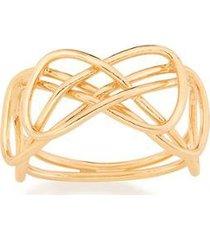 anel rommanel fio entrelaçados