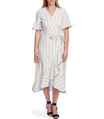 women's vince camuto flutter sleeve wrap midi dress