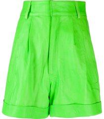 manokhi high-waisted oversized shorts - green