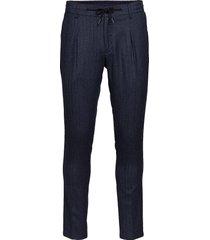 blake casual broek vrijetijdsbroek blauw bruun & stengade