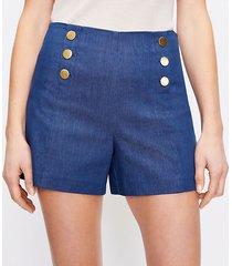 loft admiral shorts in refined denim