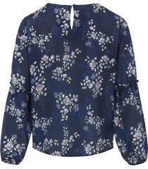 blouse met 100% zijde van uta raasch multicolour