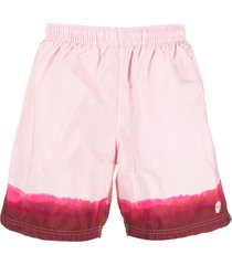 alexander mcqueen tie-dye print swim shorts - pink