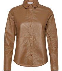 2nd thurlow långärmad skjorta brun 2ndday