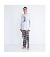pijama longo estampa namorados boletos | viko | branco | p