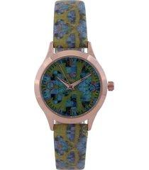 reloj azul-verde-dorado versace 19.69