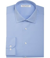 collection by michael strahan active wear classic fit dress shirt blue & white check