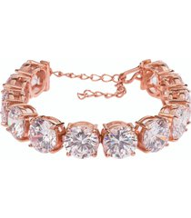 pulseira the ring boutique riviera maxi em ouro rosé - tricae