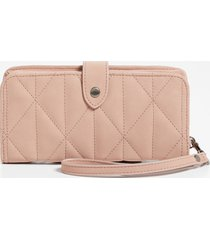 maurices womens blush quilted wristlet pink