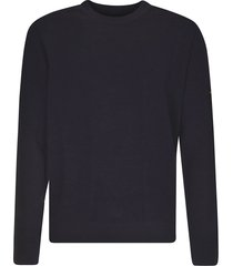 stone island ribbed logo sweater