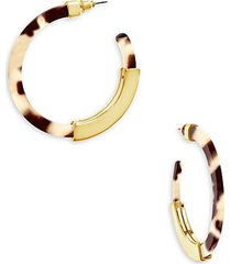14k goldplated & resin hoop earrings