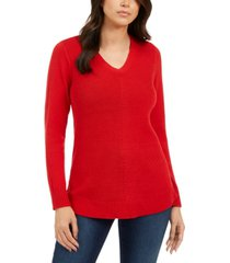 charter club petite v-neck sweater, created for macy's