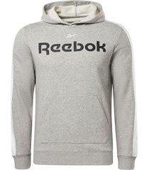 buzo training reebok essentials linear logo - gris-blanco