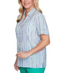 alfred dunner costa rica eyelash-stripe shirt