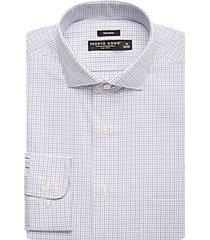pronto uomo teal & blue grid dress shirt