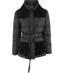 aspesi tie-waist high neck padded jacket