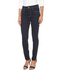 calça sarja my favorite thing(s) skinny pespontos azul-marinho