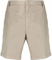 dondup cotton bermuda shorts - neutrals
