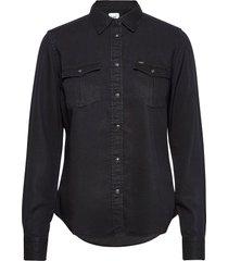 regular western shir långärmad skjorta svart lee jeans