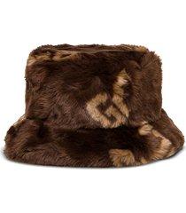 gcds buket hat in ecological fur with logo