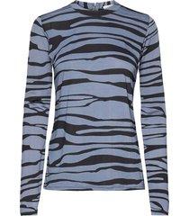 agnia blouse lange mouwen blauw rabens sal r