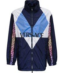versace blouson nylon sweatshirt with logo print