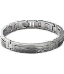 fossil designer men's bracelets, men's striped dress link bracelet