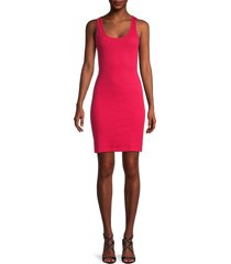french connection women's tommy ribbed tank dress - watermelon - size s