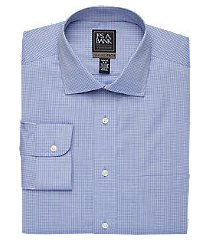 travel tech collection slim fit spread collar grid shirt, by jos. a. bank